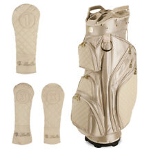 iBella Tan Ladies Golf Cart Bag (with 3 Matching Headcovers) - New!