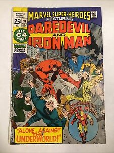 MARVEL SUPER HEROES #31 - DAREDEVIL AND IRON MAN! - (7.0) 1971