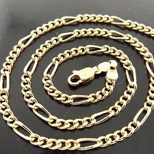 Solid Ladies Fine Pendant Necklace Chain Fsa148 Genuine Real 18K Yellow G/F Gold
