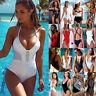 Women One Piece Bandage Bikini Push Up Monokini Swimsuit Bathing Suit Swimwear P