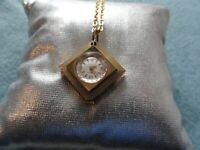 Vintage Swiss Made Caravelle Mechanical Wind Up Necklace Pendant Watch
