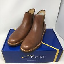 Samuel Hubbard 24 Seven Chelsea Boots Brown Leather Mens Size 8M RETAIL $255