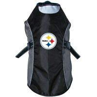 Pittsburgh Steelers NFL Water Resistant Reflective Dog Pet Jacket Sizes XS-XL