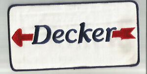 Decker Transportation Co jacket size truck driver patch 5 X 10