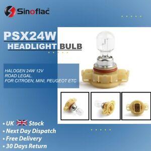 PSX24W 12v 24w Reverse Fog Light DRL Sidelight Front Clear Halogen bulb