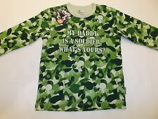 MY DADDY IS A SOLDIER CAMOUFLAGE ONE-PIECE TODDLER 4T GREEN CAMO BRAND NEW