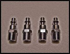 Air Quick Connect Male Thread Plugs Zinc Plated Steel set of 4 Tools Hoses Paint