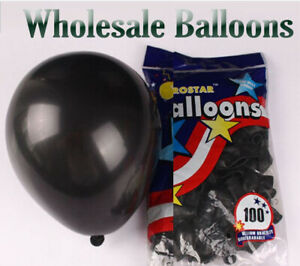 """5""""inch Small Round Best Latex Balloons 100 Quality Standard black Color baloon"""