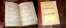 recueil de choeurs 2, 3 et 4 parties sans accompagnement 1883 Julie Bernard