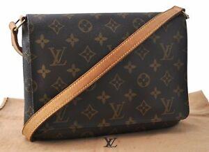 Authentic Louis Vuitton Monogram Musette Tango Shoulder Bag M51257 LV D8326