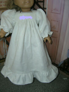 "You Pick the Name Embroidered White Nightgown 18"" Doll clothes fit American Girl"