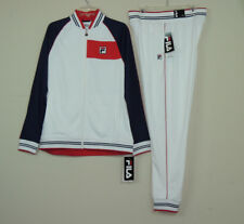66fcaf3ae64b Nw Fila Mens Gym Jogger Moda Tricot Tracksuit Jacket Pants Set White SZ M L  2XL