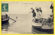 cpa FRANCE Cachet ENTREPOT d'ETAPLES Ecrite en 1914 La PLAGE Le PLONGEON Bather