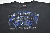 Men's XXL Harley Davidson Motorcycle Biker Throttle Chico CA T-Shirt Black 2XL