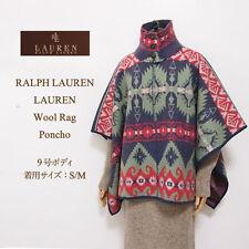 Ralph Lauren Indian Southwestern Navajo Blanket Poncho Sweater Wool S/M