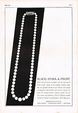 1920's BIG VINTAGE Black Starr Frost Jewelry Pearl Necklace Art Deco Print AD