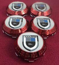 Asanti Wheels Anodized Red Custom Wheel Center Caps Set of 5 # 743C01