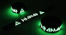 Def Leppard NEW! Glow in the Dark Rubber Bracelet Wristband Hysteria vg215