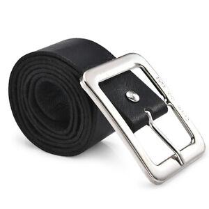 Unisex Men's Leather Dress Belt Casual Pin Buckle Waist Strap Belts Waistband