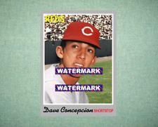 Dave Concepcion Cincinnati Reds 1970 Style Custom Baseball Art Card