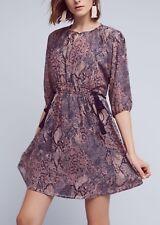 New Anthropologie Zharah Peasant Dress By Floreat Purple Motif Sz Small $158