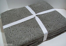 """Pottery Barn Washed Chenille One Size Coverlet Blanket 92"""" X 96"""" Stone Gray New"""