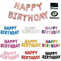 LARGE HAPPY BIRTHDAY INFLATING BALLOON BANNER BUNTING PARTY DECORATION UK