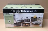 Simply Calphalon Nonstick 14 Piece Cookware Set Hard Anodized Aluminum Oven Safe