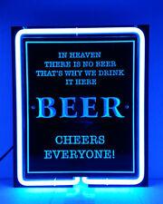 SB046 BEER CHEERS EVERYONE! bar pub shop HAPPY hour Display Neon Light Sign
