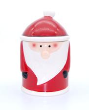 Weihnachtsmann Keksdose Gebäckdose, Keramik rot weiß 12,5cm x 12,5cm x H 20,5cm