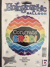 "Congrats Grad Holographic Round 18"" Foil Balloon"