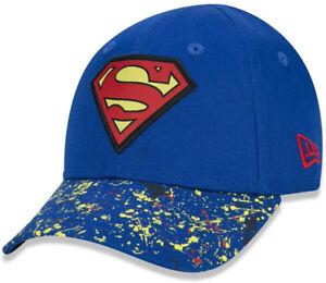 New Era Kids 9Forty Superman Cap Blue Snap Back Superhero Blue Logo Adjustable