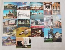 Ohio Post Cards State Cooking Building Pictures boat bicycle general store depot