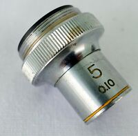 Tasco 5X .10 Objective Lens Microscope  RMS Thread Made in Japan