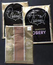 3 Pr Lot Nwt, No Seams National Hosiery Nylon Stockings, Thigh Highs, One Size