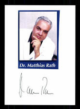 Dr Matthias Rath Original Signiert Arzt # BC 113615