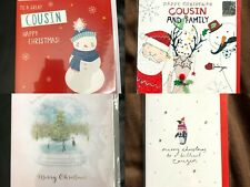 Christmas Cards for Cousin - Choice of 4 Designs - Family Merry Happy Christmas
