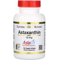 California Gold Nutrition  Astaxanthin  AstaLif Pure Icelandic  12 mg  120