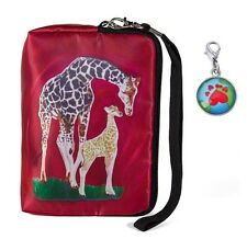 Giraffe Wristlet with Signature Zipper Charm - From my Orginal Painting