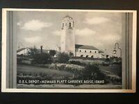 Vintage Postcard>1950's>O.S.L.Depot-Howard Platt Gardens>Boise>Idaho