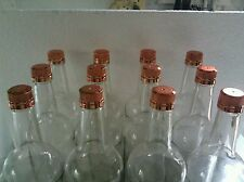 36 EMPTY WINE/BEVERAGE/ BOTTLES SCREW CAP  1000 ML CLEAR