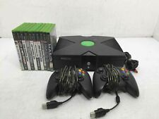 Microsoft Original Xbox Video Game Console w/ 10 Games and 2 Controllers