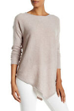 Philosophy Cashmere Asymmetrical Sweater Grain Heather L NWT $228