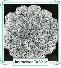 Vintage knitting pattern-how to make this intricate lace baby christening shawl