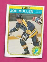 1982-83 OPC # 307 BLUES JOE MULLEN  ROOKIE EX-MT CARD (INV# C3287)