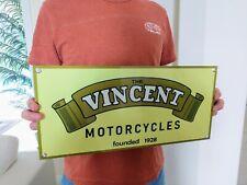 Vincent motorcycle Gas Oil Gasoline Large Sign