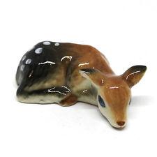 Ceramic Deer Bambi Figurine Animal Gift DIY Craft Miniature Collectibles