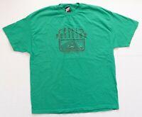 Vintage Namco Shirt Men Size 2XL XXL 2005 Pole Position TShirt Gamer Green VTG