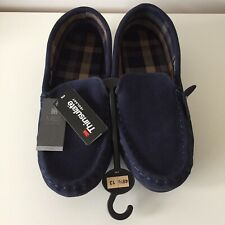 Marks & Spencer Suede Slip-on Slippers with Hard Soles Size UK 13 NEW WITH TAGS