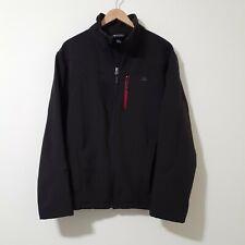 Snozu Men's Size L Jacket BLACK/Red Full Zipper With Zip Pockets